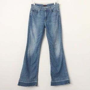 7 for All Mankind Ginger High Rise Flare Sz 31